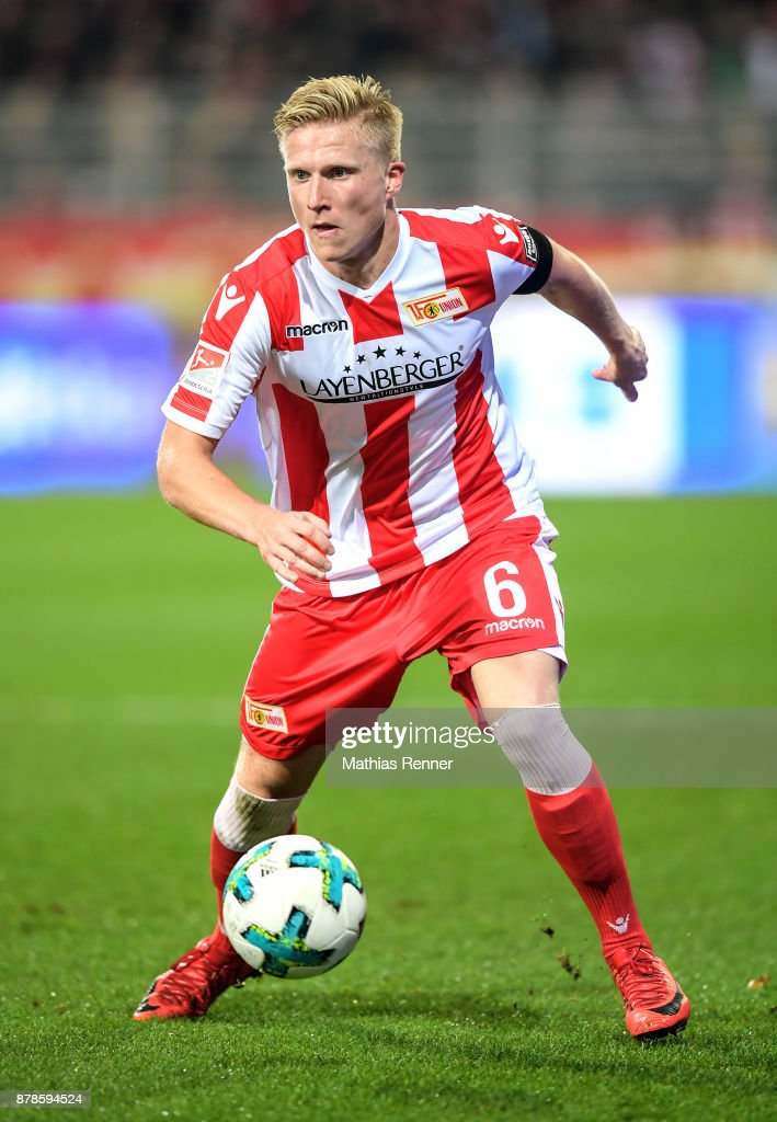 Kristian Pedersen of 1 FC Union Berlin during the Second Bundesliga match between Union Berlin and SC Darmstadt 98 on November 24, 2017 in Berlin, Germany.