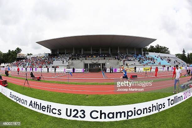 Kristian Pulli of Finland competes in the Men's Long Jump qualification during day one of the European Athletics U23 Championships at Kadriorg...