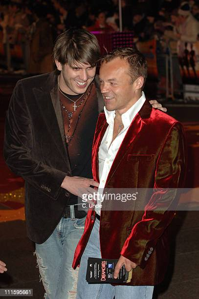 Kristian Seeber and Graham Norton during 'Dreamgirls' London Film Premiere Red Carpet at Odeon Leicester Square in London Great Britain
