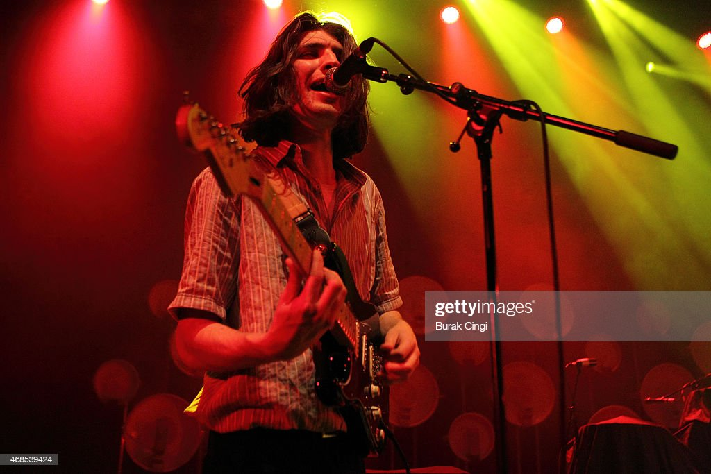 Kristian Smith of The Magic Gang performs on stage at O2 Shepherd's Bush Empire on April 3, 2015 in London, United Kingdom.