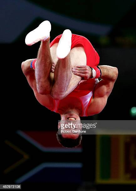 Kristian Thomas of England competes in the Men's Floor Final during day eight of the Glasgow 2014 Commonwealth Games on July 31 2014 in Glasgow...