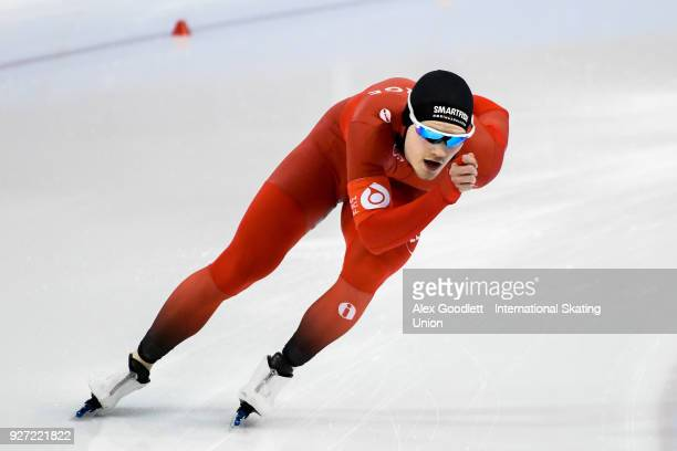 Kristian Ulekleiv of Norway performs in the men's neo senior 1500 meter final during day 3 of the ISU Junior World Cup Speed Skating event at Utah...
