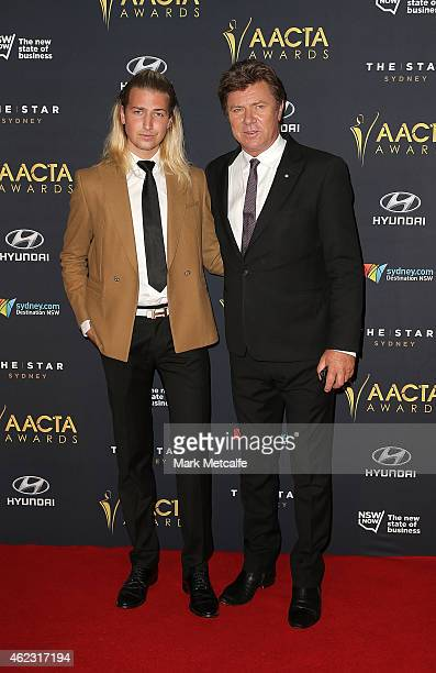 Kristian Wilkins and Richard Wilkins arrive at the 4th AACTA Awards Luncheon at The Star on January 27 2015 in Sydney Australia