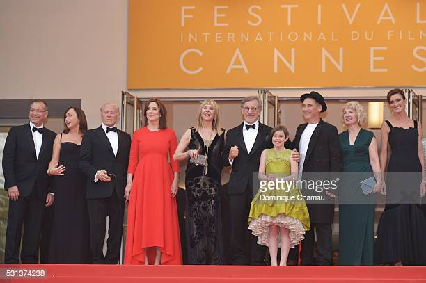 Kristie Macosko, Frank Marshall, Kathleen Kennedy, Kate Capshaw, Steven Spielberg, Ruby Barnhill, Mark Rylance, Claire van Kampen and Lucy Dahl...
