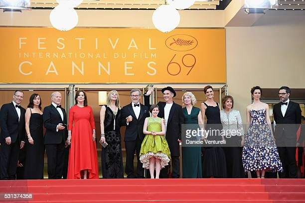 Kristie Macosko, Frank Marshall, Kathleen Kennedy, Kate Capshaw, Steven Spielberg, Ruby Barnhill, Mark Rylance, Claire van Kampen, Lucy Dahl,...