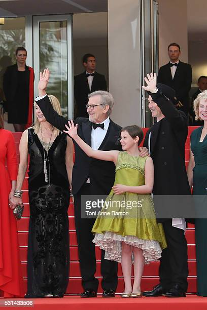 Kristie Macosko Frank Marshall Kathleen Kennedy Kate Capshaw Steven Spielberg Ruby Barnhill Mark Rylance Claire van Kampen and Lucy Dahl attend 'The...