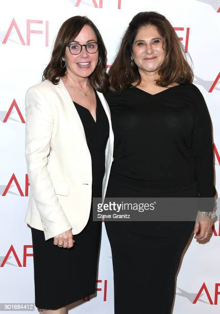 Kristie Macosko Krieger and Amy Pascal arrives at the 18th Annual AFI Awards on January 5 2018 in Los Angeles California