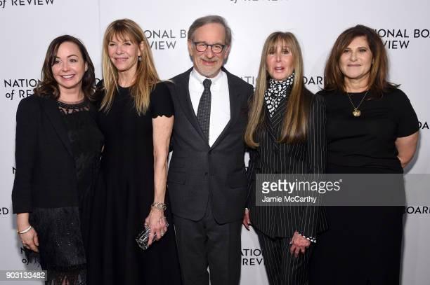 Kristie Macosko Krieger Kate Capshaw Steven Spielberg Annie Schulof and Amy Pascal attend The National Board Of Review Annual Awards Gala at Cipriani...