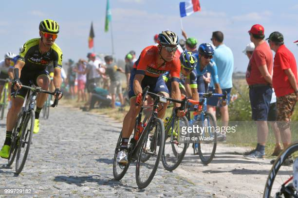 Kristijan Koren of Slovenia and Bahrain Merida Pro Team / during the 105th Tour de France 2018 Stage 9 a 1565 stage from Arras Citadelle to Roubaix...