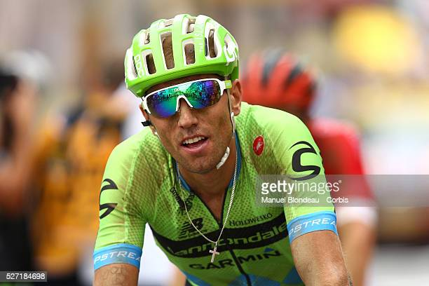 Kristijan Koren of Slovenia riding for Team Cannondale-Garmin looks on as he crosses the finish line during the 2015 Tour of France, Stage 4, Seraing...