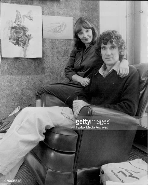 Kristin and David Williamson in Davids office July 5 1982