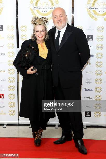 Kristin Bailey and Bill Bailey attend the National Film Awards 2021 at Porchester Hall on July 1, 2021 in London, England.
