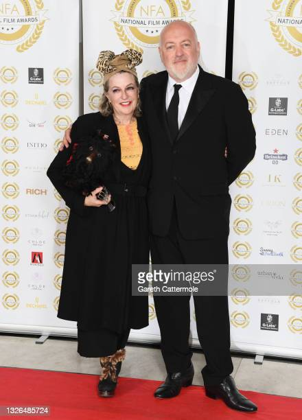 Kristin Bailey and Bill Bailey attend the National Film Awards 2021 held at Porchester Hall on July 1, 2021 in London, England.