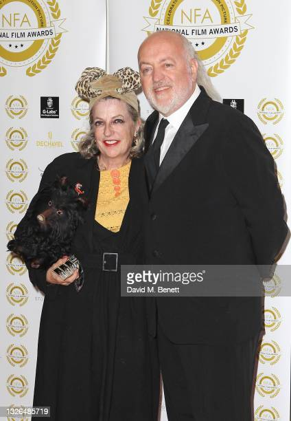 Kristin Bailey and Bill Bailey attend the National Film Awards UK 2021 at Porchester Hall on July 01, 2021 in London, England.