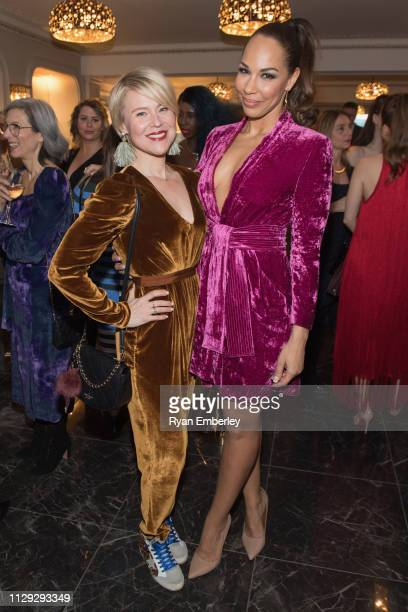 Kristin Booth and Amanda Brugel attend L'Oreal Women of Worth 2019 on March 8 2019 in Toronto Ontario