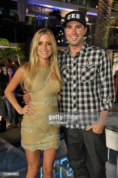 Kristin Cavallari and Brody Jenner attend MTV's The Hills Live A Hollywood Ending Finale event held at The Roosevelt Hotel on July 13 2010 in...