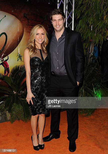 Kristin Cavallari and Jay Cutler arrive at the Cirque du Soleil OVO Celebrity Opening Night Gala at Santa Monica Pier on January 20 2012 in Santa...