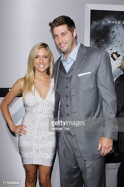 Kristin Cavallari and Jay Cutler arrive at the Los Angeles premiere of Source Code held at ArcLight Cinemas Cinerama Dome on March 28 2011 in...
