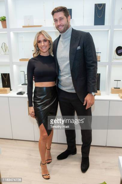 Kristin Cavallari and Jay Cutler attend the Uncommon James VIP Grand Opening at Uncommon James on October 25 2019 in Chicago Illinois
