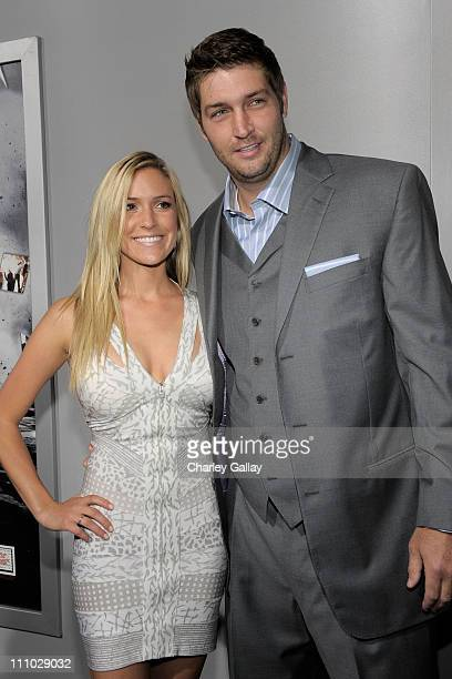 Kristin Cavallari and NFL player Jay Cutler arrive at the premiere of Summit Entertainment's Source Code at ArcLight Cinemas on March 28 2011 in Los...