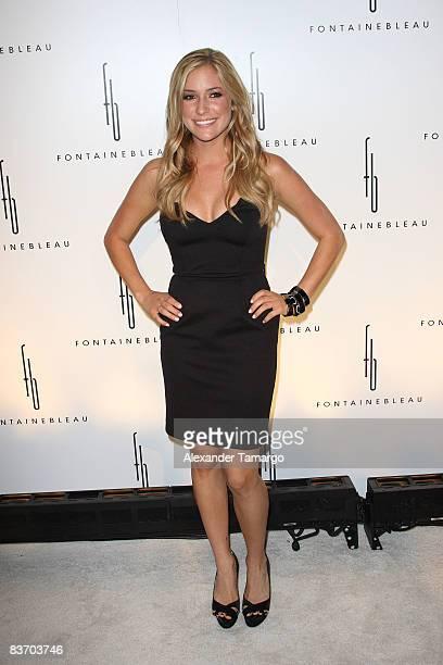 Kristin Cavallari arrives for the grand opening of Fontainebleau Miami Beach on November 14, 2008 in Miami Beach, Florida.