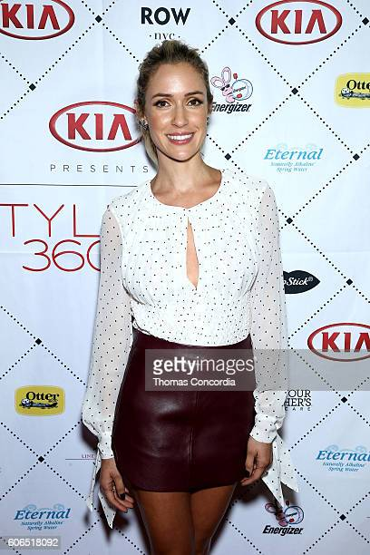Kristin Cavallari attends Kia STYLE360 hosts Kristin Cavallari Collections for Emerald Duv Jewelry Chinese Laundry at Row NYC on September 15 2016 in...