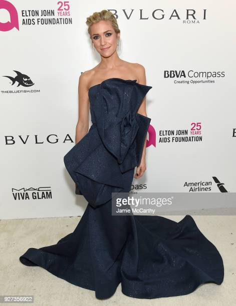 Kristin Cavallari attends the 26th annual Elton John AIDS Foundation Academy Awards Viewing Party sponsored by Bulgari celebrating EJAF and the 90th...