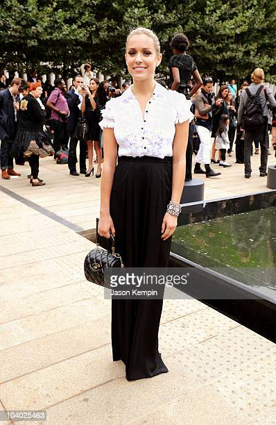 Kristin Cavallari attends the Malandrino Spring 2011 fashion show during MercedesBenz Fashion Week at Grand Promenade Avery Fisher Hall on September...