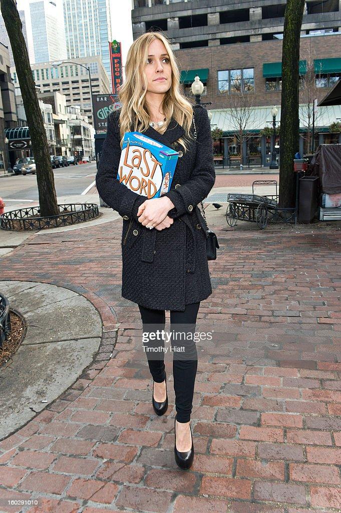 Kristin Cavallari buys Last Word Party Game on January 28, 2013 in Chicago, Illinois.