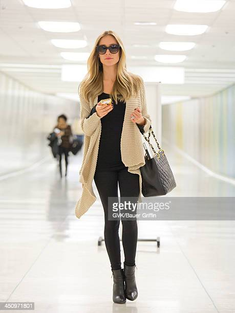 Kristin Cavallari is seen arriving at LAX airport on November 19 2013 in Los Angeles California