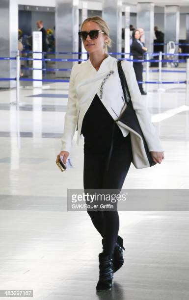 Kristin Cavallari is seen at LAX on April 09 2014 in Los Angeles California