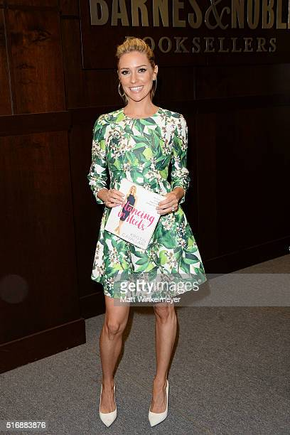 Kristin Cavallari poses for a photo during her book signing for 'Balancing in Heels My Journey to Health Happiness and Making It All Work' at Barnes...