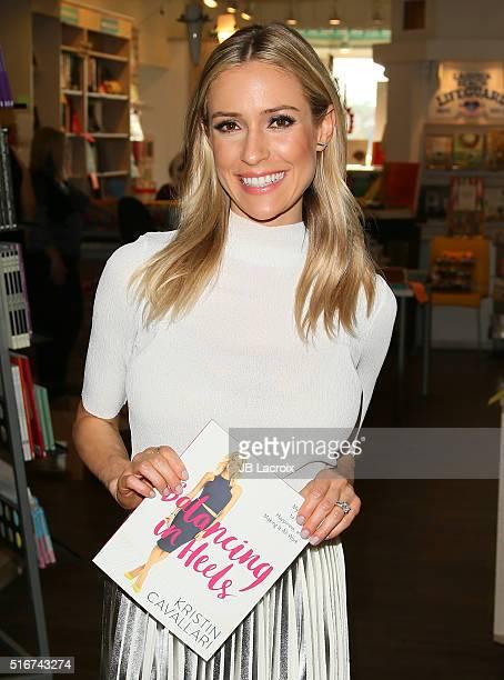 Kristin Cavallari signs copies of her new book 'Balancing in Heels' at Laguna Beach Books on March 20 2016 in Laguna Beach California