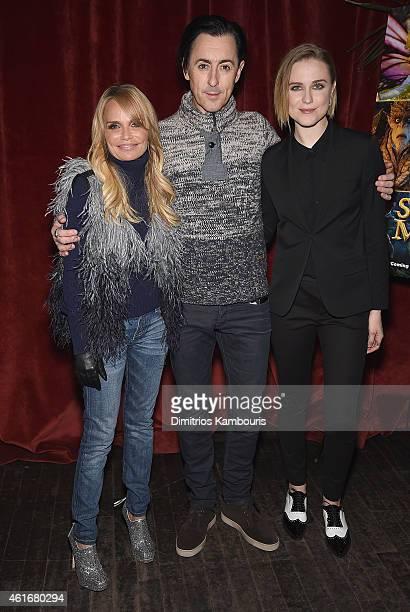 Kristin Chenoweth Alan Cumming and Evan Rachel Wood attend The New York Special Screening Of Lucasfilm's STRANGE MAGIC At The Tribeca Grand Hotel...