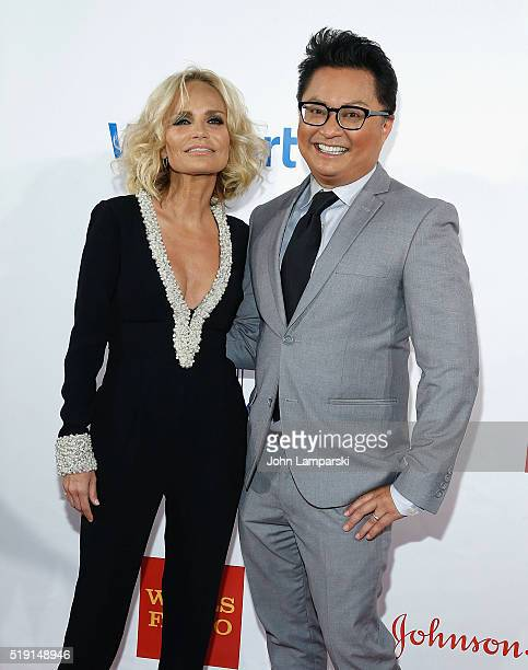 Kristin Chenoweth and Alec Mapa attend PFLAG National's Eighth Annual Straight For Equality Awards Gala at The New York Marriott Marquis on April 4...