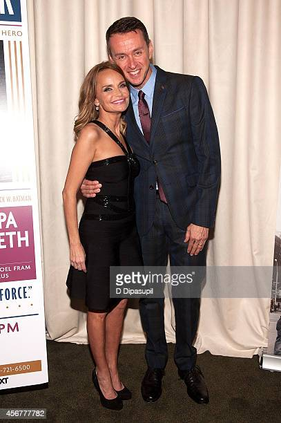 Kristin Chenoweth and Andrew Lippa attend the 'I Am Harvey Milk' Benefit Concert after party at Bryant Park Grill on October 6 2014 in New York City