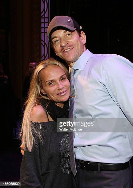 Kristin Chenoweth and Andy Karl during the Broadway Opening Night Gypsy Robe Ceremony celebrating Bahiyah Hibah of 'On the 20th Century' at The...