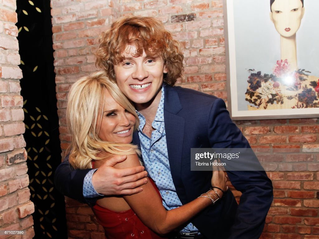 Kristin Chenoweth and Bruce Langley attend the premiere of Starz's 'American Gods' after party on April 20, 2017 in Hollywood, California.