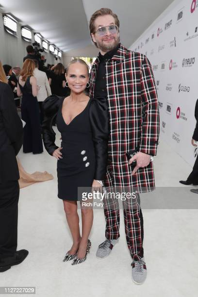 Kristin Chenoweth and Bryan Fuller attend the 27th annual Elton John AIDS Foundation Academy Awards Viewing Party sponsored by IMDb and Neuro Drinks...