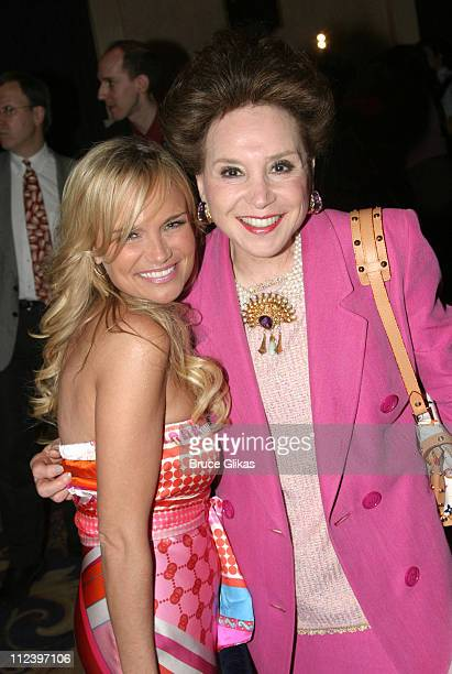 Kristin Chenoweth and Cindy Adams during Hugh Jackman is Given The Drama League 2004 Distinguished Performance of the Year Award for The Boy From Oz...