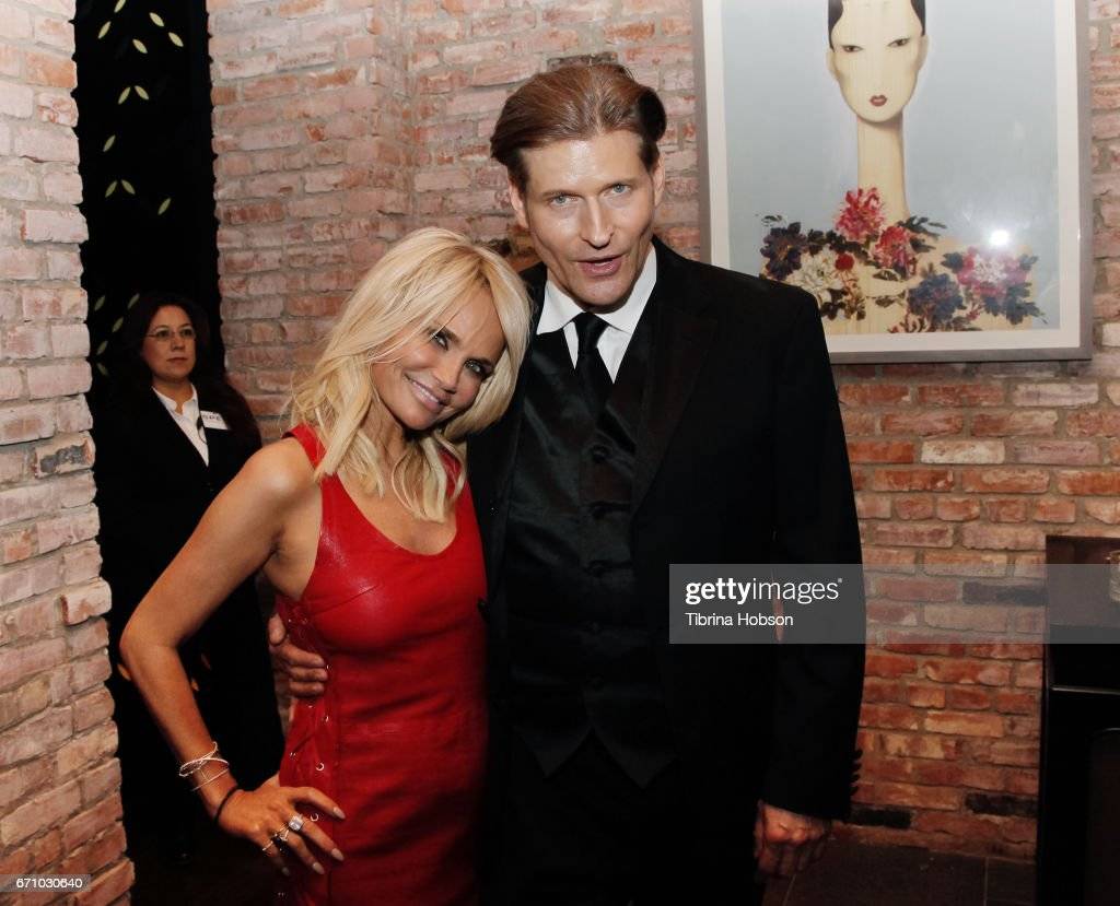 Kristin Chenoweth and Crispin Glover attend the premiere of Starz's 'American Gods' after party on April 20, 2017 in Hollywood, California.