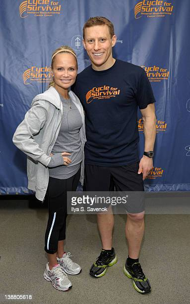 Kristin Chenoweth and David Linn attend 2012 Cycle For Survival - Day 2 at Equinox Graybar on February 12, 2012 in New York City.