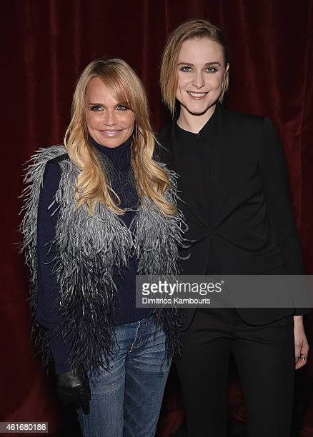 Kristin Chenoweth and Evan Rachel Wood attend The New York Special Screening Of Lucasfilm's STRANGE MAGIC At The Tribeca Grand Hotel Hosted By The...