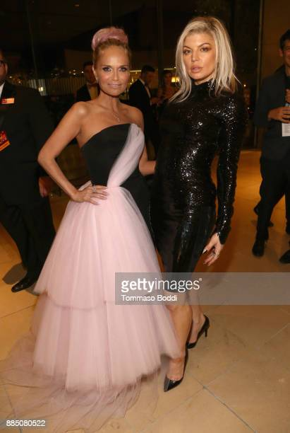 Kristin Chenoweth and Fergie attend The Trevor Project's 2017 TrevorLIVE LA Gala at The Beverly Hilton Hotel on December 3 2017 in Beverly Hills...