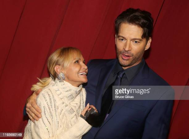 """Kristin Chenoweth and Harry Connick Jr chat backstage after the opening night performance of """"Harry Connick Jr - A Celebration Of Cole Porter"""" on..."""
