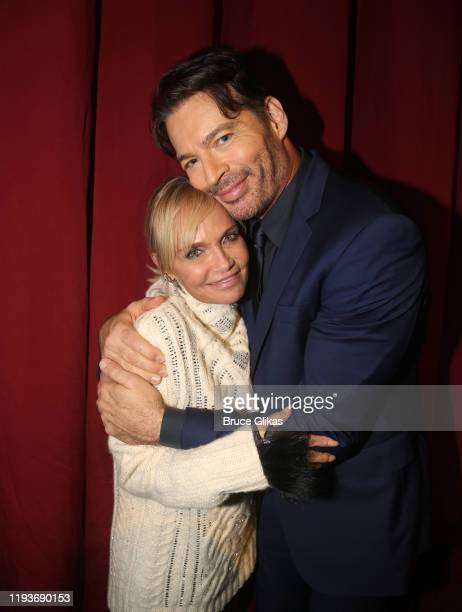 """Kristin Chenoweth and Harry Connick Jr pose backstage after the opening night performance of """"Harry Connick Jr - A Celebration Of Cole Porter"""" on..."""