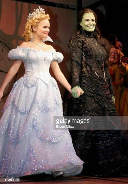 Kristin Chenoweth and Idina Menzel at curtain call