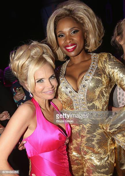 Kristin Chenoweth and Jennifer Hudson pose at the 'NBC presents Hairspray Live' After Party on the NBC/Universal Studios back lot on December 7 2016...