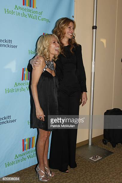 Kristin Chenoweth and Julia Roberts attend A Celebration of Paul Newman's Hole in the Wall Camps at Avery Fisher Hall on June 8 2009 in New York