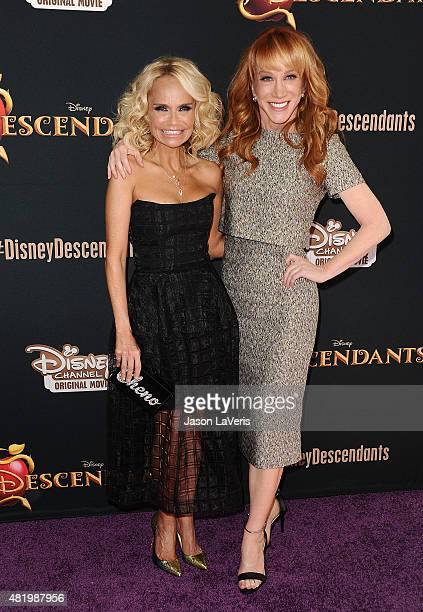 Kristin Chenoweth and Kathy Griffin attend the premiere of 'Descendants' at Walt Disney Studios Main Theater on July 24 2015 in Burbank California